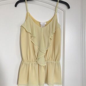 MM Couture by Miss Me Yellow Top, Size S